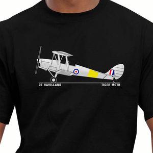 Brand-Clothing T Shirts Hip-Hop  Splicing Tee Tops Shirt Aeroclassic De Havilland Tiger Moth Summer Tops Tees T Shirt