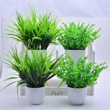 Graminées artificielles en plastique 5 Types   Fausse herbe, fleurs de décoration pour la maison, meilleure qualité, vente directe en usine, 2018 nouveau