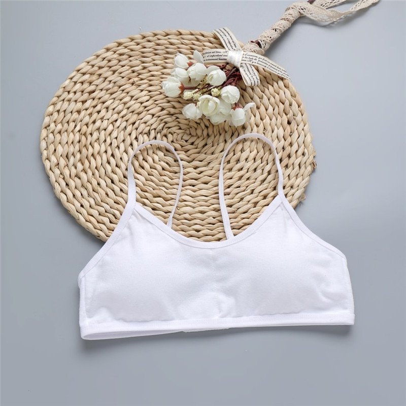 Hot sale Child Sports Bra Kids Thin Cup Young Girl Bra Cotton Intimates Girls Lingerie Underwear Tee