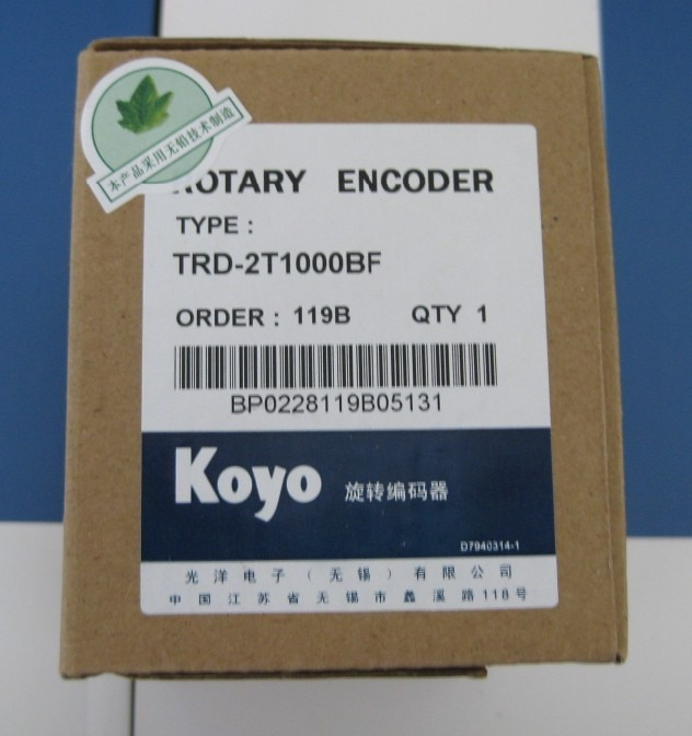 Freeship Koyo TRD-2T série Ultra-pequeno TRD-2T1000-BF incremental rotary encoder TRD-2T1000BF Diâmetro 38mm ano de garantia