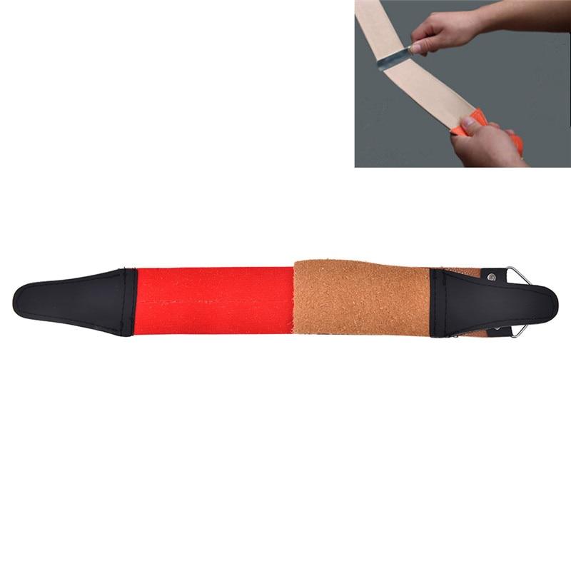Pro barbeiro de dupla camada de couro genuíno barbear strop navalha reta necessário shaving cinta ferramenta sharpener correia