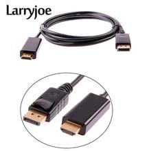Larryjoe 1,8 м/6 футов 3 м 10 футов DisplayPort Display Port DP Male to HDMI Male M/M кабель адаптер для MacBook Air Dell Monitor