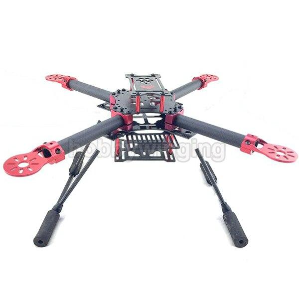 Gf-400 FPV fibra de carbono Quadcopter quadro 400 mm distância entre eixos com Landing Skid engrenagem