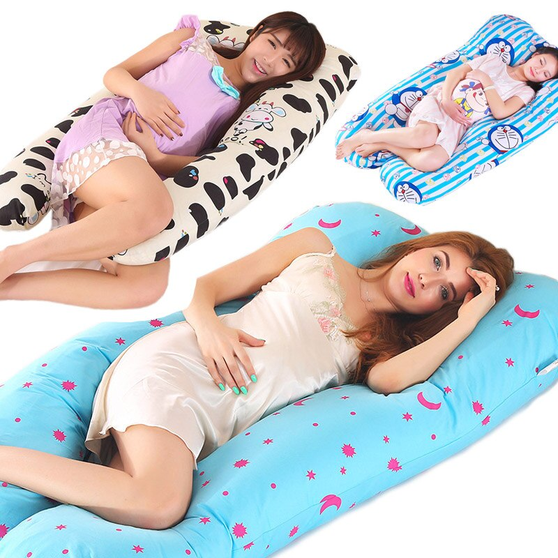 Pregnancy Pillow U-Shape Full Body Pillow Maternity Support Detachable Extension - Support Back Hips