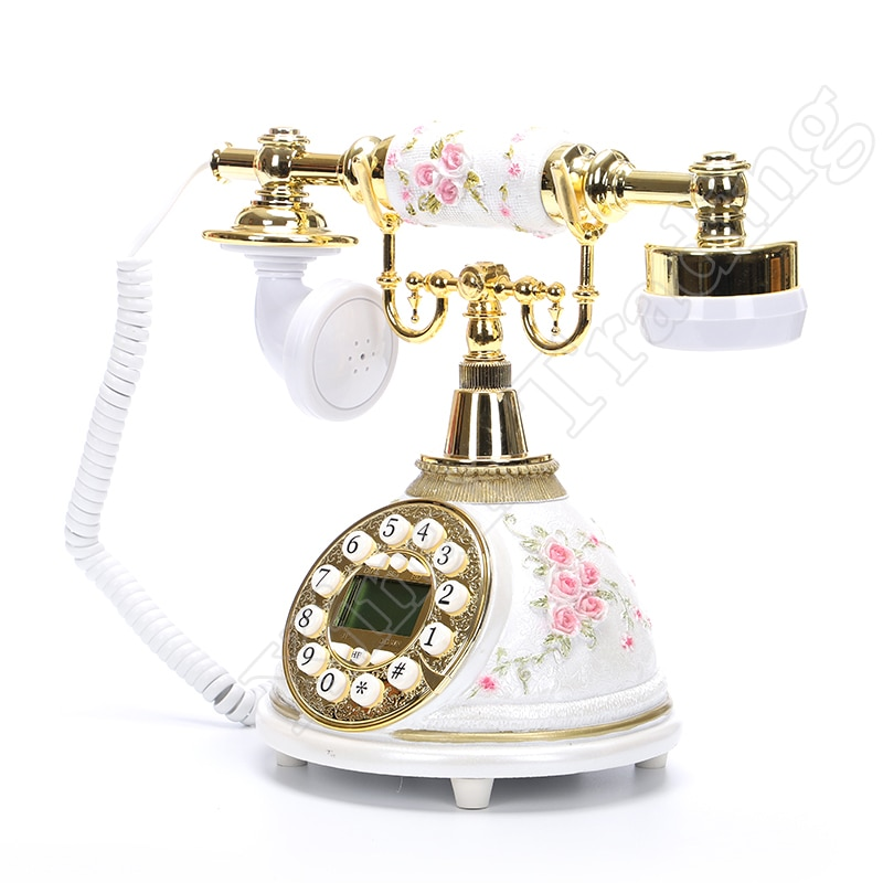 Teléfono Real Retro, Vintage, teléfonos antiguos con identificación de llamada, ajuste de llamada, tono de llamada, teléfono fijo para la oficina en casa