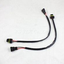 FSYLX connecteur de câble dalimentation au xénon caché   Faisceau de fil, HB4 9006 prise de Ballast, Kit de Conversion dadaptateur de câblage caché 2 pièces
