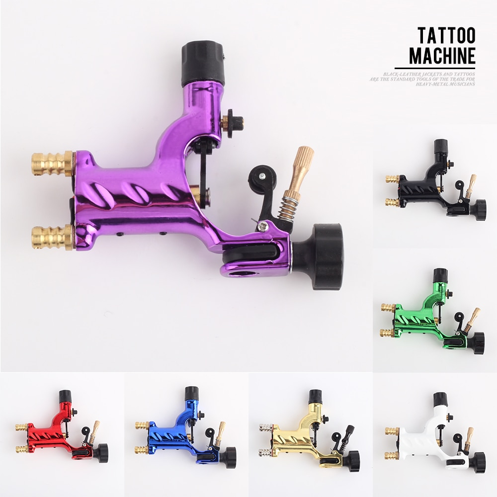 Yilong dragonfly rotativa máquina de tatuagem shader & forro 7 cores sortidas tatoo kits arma do motor fonte para artistas