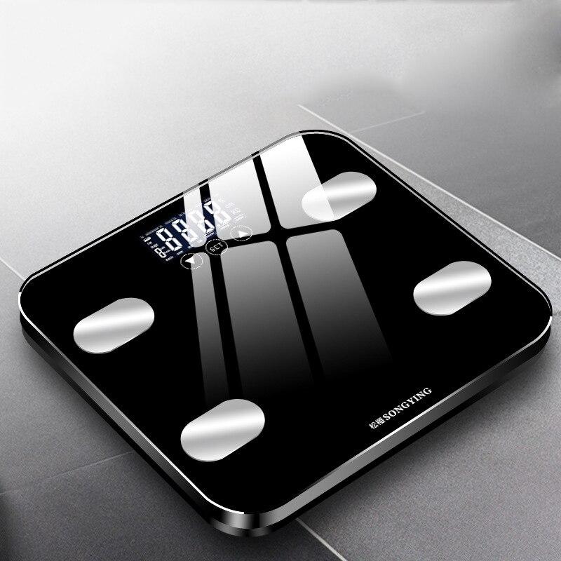 Básculas de Peso inglesas básculas electrónicas Bascula Digital Peso Corporal hogar Bascula inteligente para baño Peso Corporal