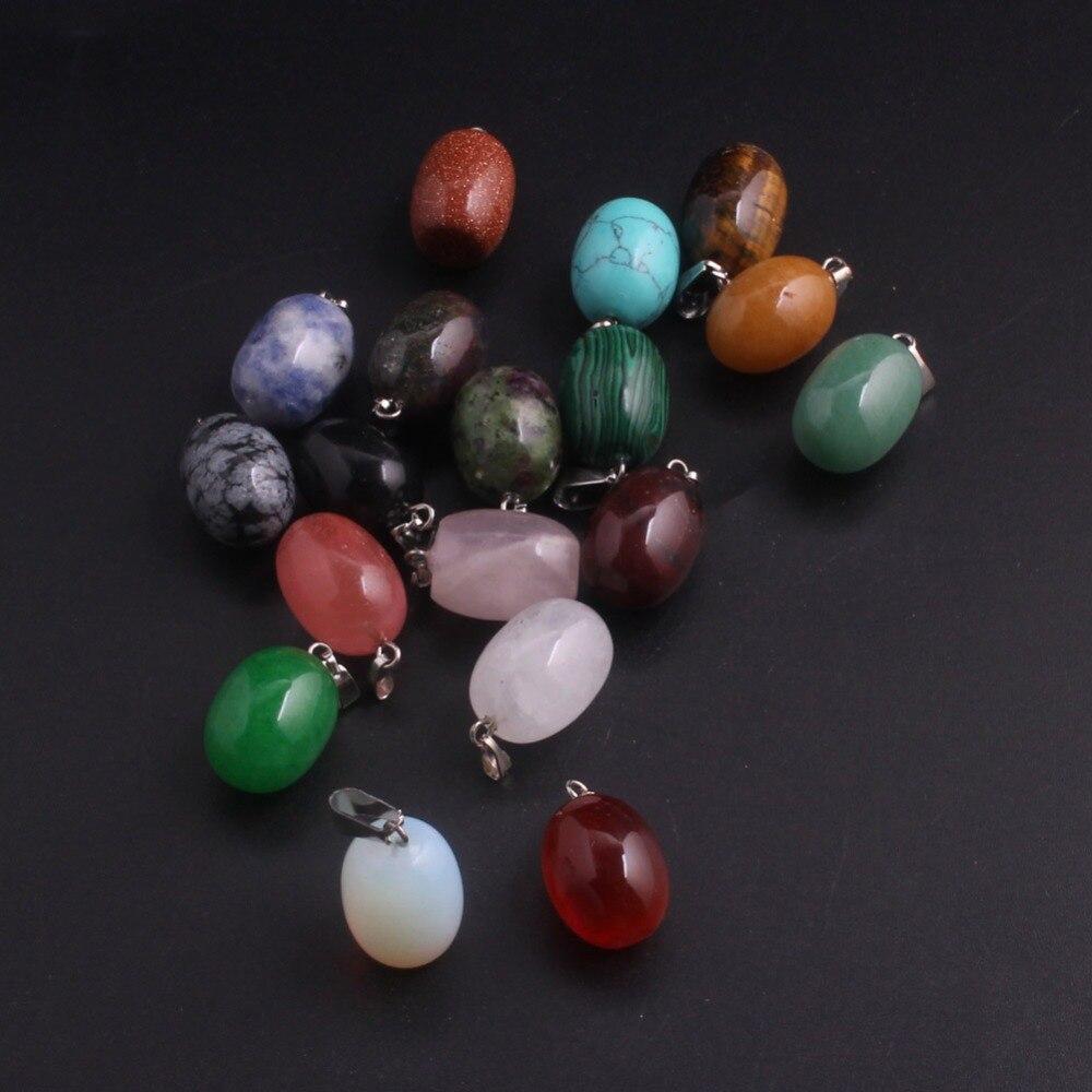 Wholesale 50pcs/lot Mix Multi-Style Natural Stone Pendants Strawberry Quartz Charms Beads Necklace Choker Jewelry Free Shipping