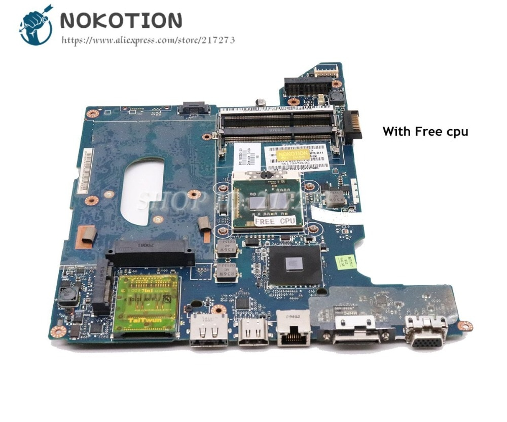 NOKOTION para HP Pavilion DV4 DV4-2000 placa base para ordenador portátil HM55 DDR3 cpu gratis 590350-001 LA-4106P