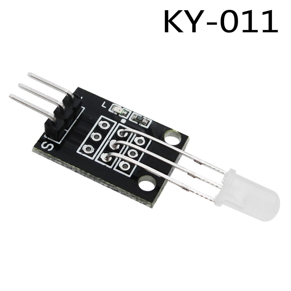 HAILANGNIAO 10pcs/lot KY-011 5mm Two Color Red and Green LED Common Cathode Module for Diy Starter Kit 2-color KY011