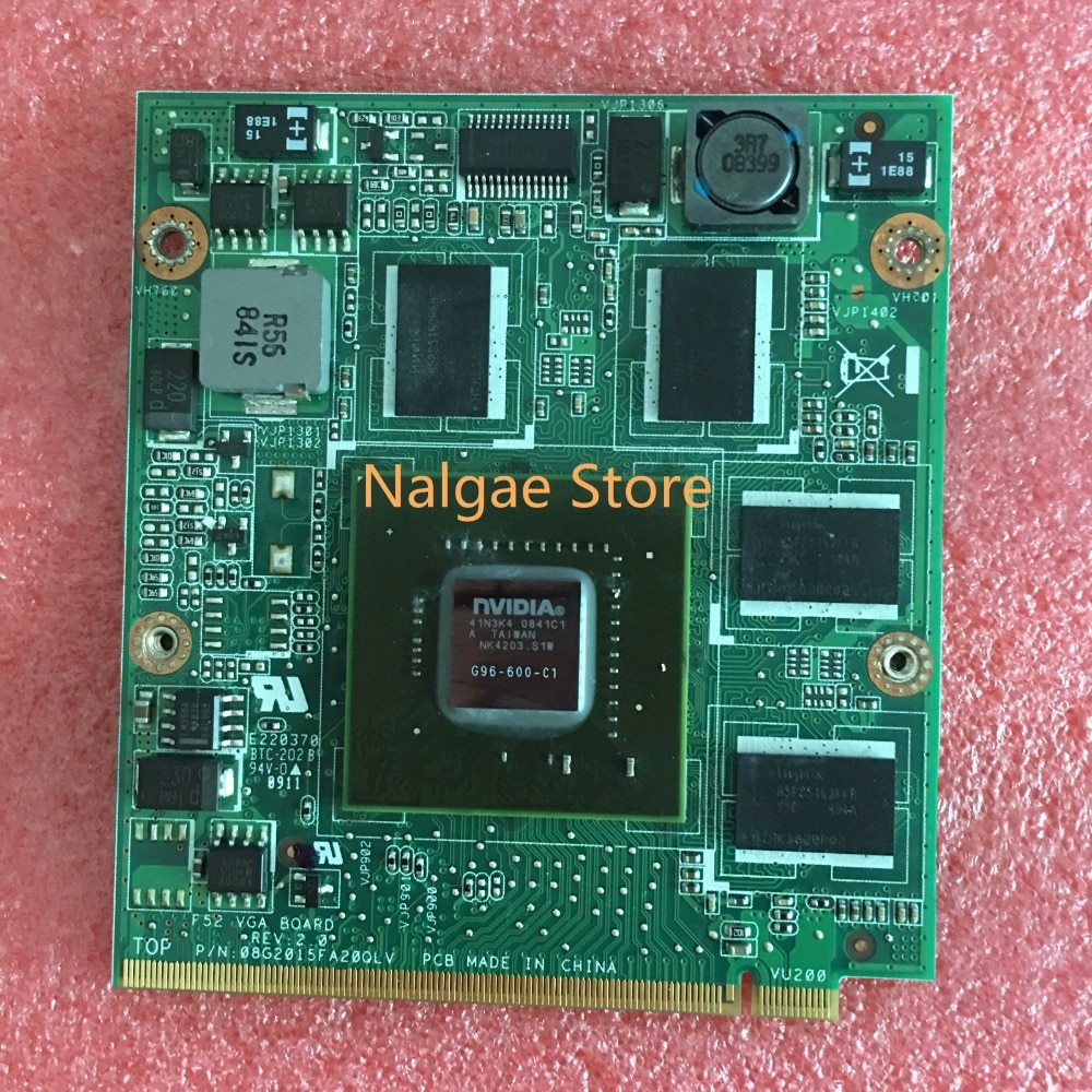 100% nuevo Original para lenovo Y530 portátil 9600M GS G96-600-C1 MXM DDR2 512M vídeo VGA tarjeta