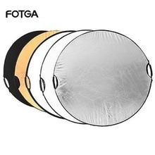 "FOTGA 5 in 1 110 cm 43 ""Portable Inklapbare Licht Ronde Fotografie Reflector voor Studio Multi Photo Disc"