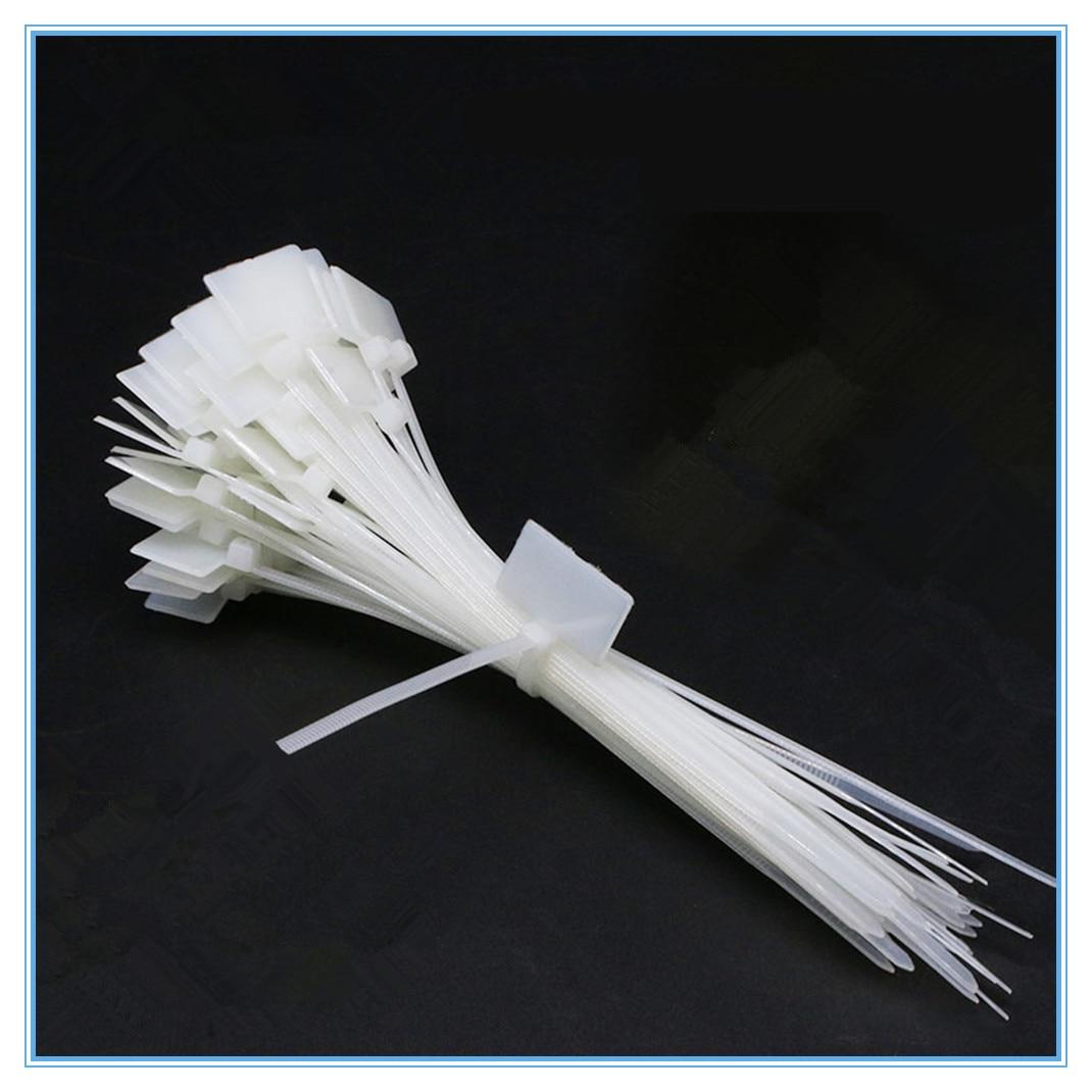 50 шт. нейлоновые бирки для галстука самоблокирующийся сетевой кабель с застежкой-молнией обмотка петли провода ремни этикетка
