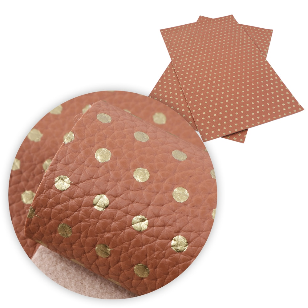 David accessories 20*33cm dot faux artificial Synthetic leather fabric hair bow diy decoration crafts 1piece,1Yc5750