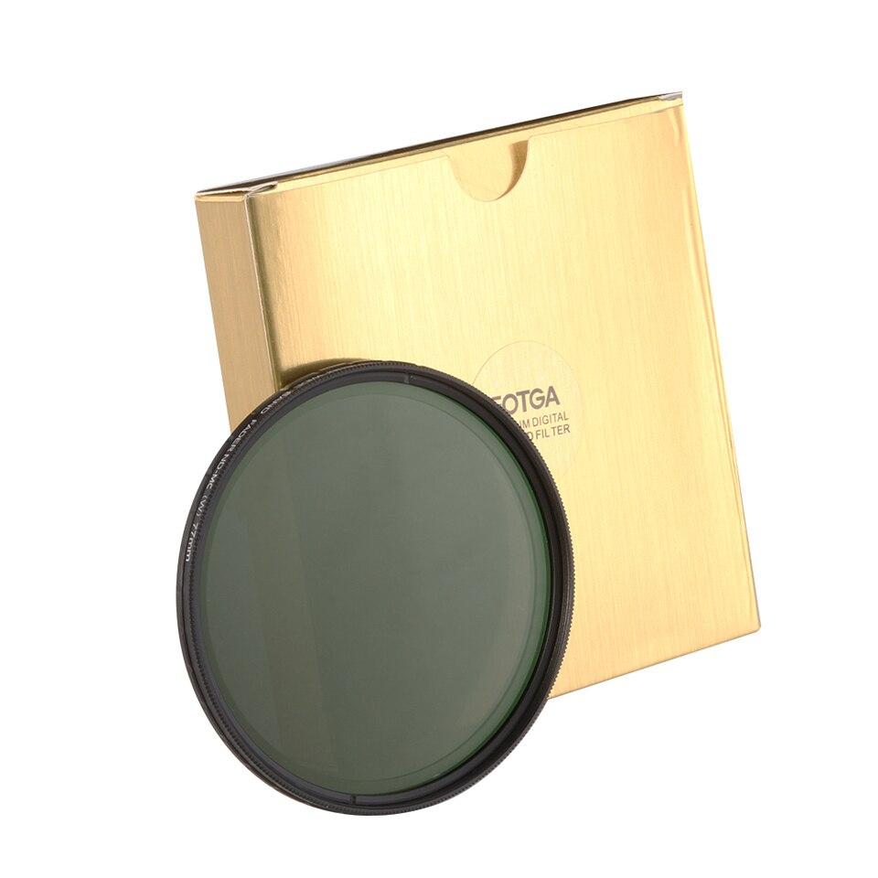 Fotga 82mm Ultra Slim Nd2 400 Fader Variable Neutral Density Nd Filter 82 Mm Adjustable For D7300 D5500 D3300 5diii A7 A7rs 1d Nd Filter 67mm Nd Filter Setnd Camera Filters Aliexpress