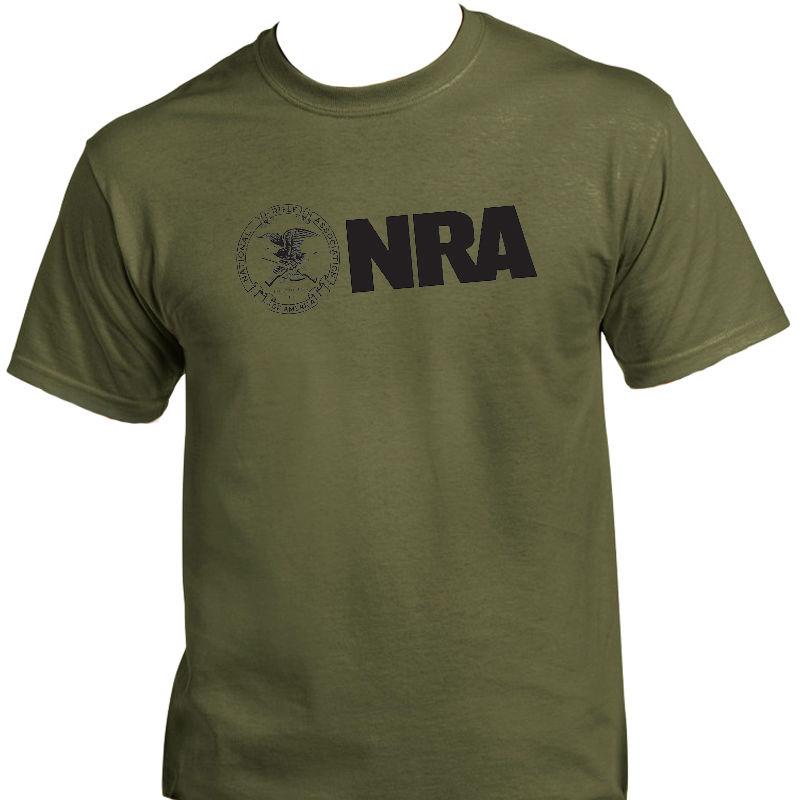 Nra, nacional rifle ass, 2nd emenda arma camiseta 2018 moda cor sólida camiseta sem mangas