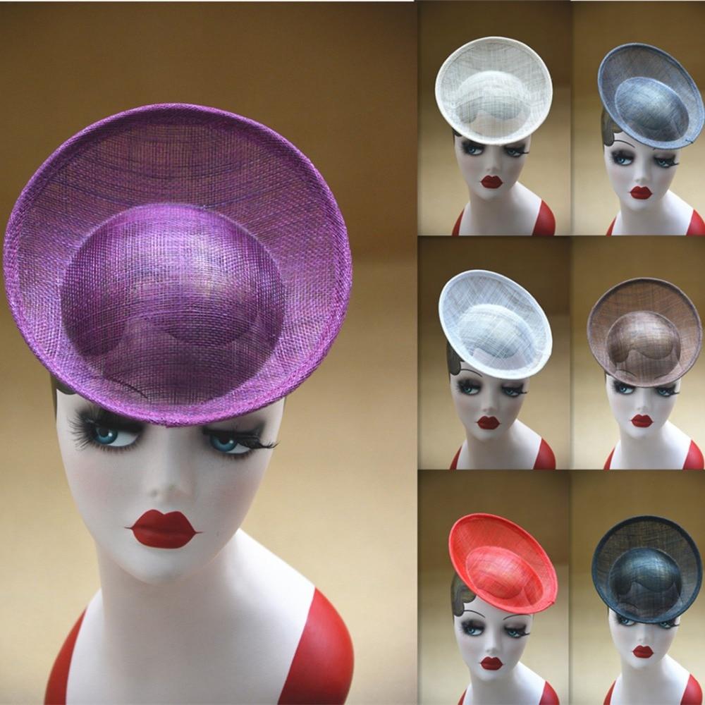 20cm Round Saucer sinamay Inspired Percher Hat fascinator Millinery Base B063