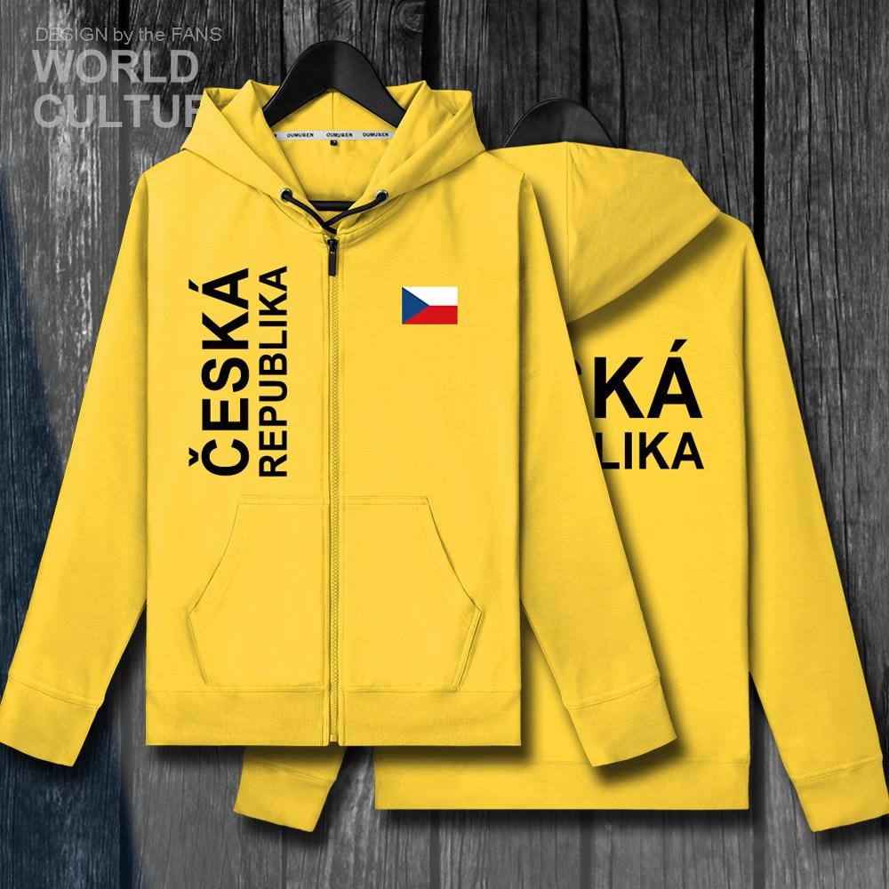 Czech Republic Czechia CZE mens zipper fleeces hoodies winter jerseys men jackets and coats clothes nation country sweatshirt
