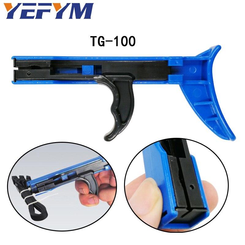 Herramientas de cierre y corte de TG-100 yekym especiales para pistola de bridas para cables de nailon anchura de la brida Herramientas manuales de 2,4-4,8mm