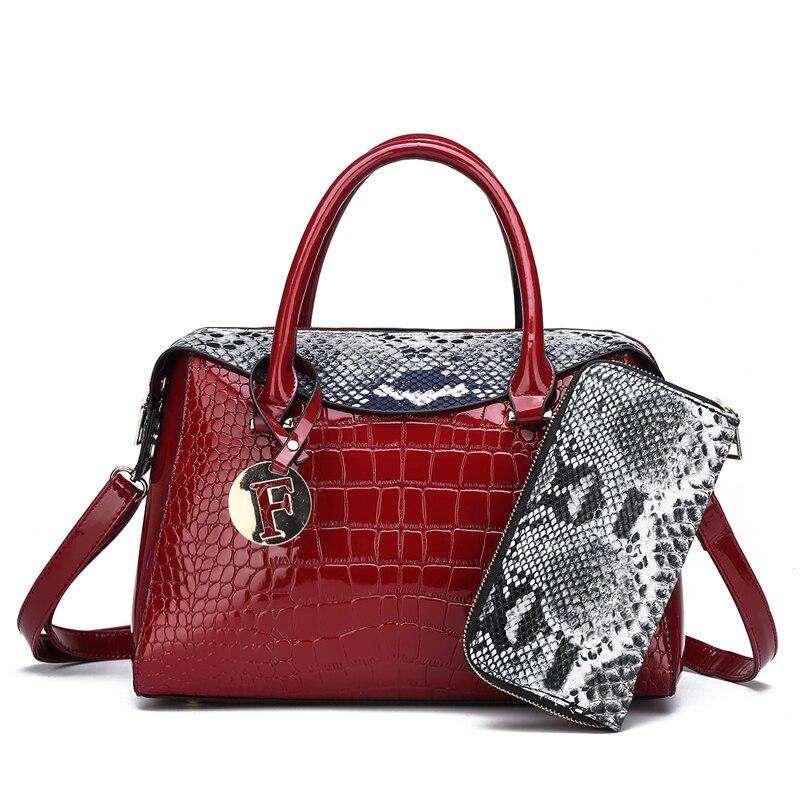 2pcs Set Bags Lady Pu leather 2019 women summer  casual tote hand big bag set ladies shoulder crossbody party travel  bag female