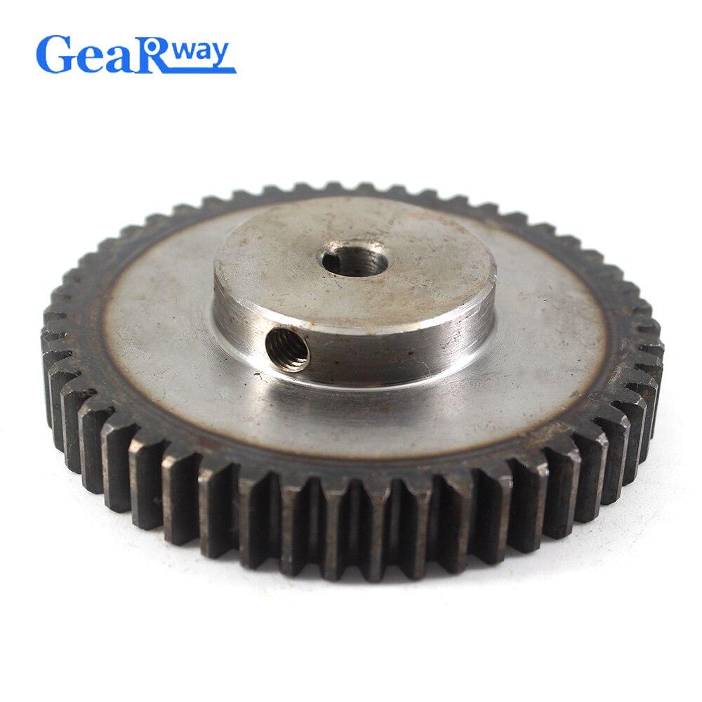والعتاد عجلة معدنية 1.5 وحدة 65 T 45 الصلب Rc تروس بينون صغيرة 10/12mm تتحمل 1.5 العفن 65 الأسنان والعتاد عجلة حفز ترس بنيون