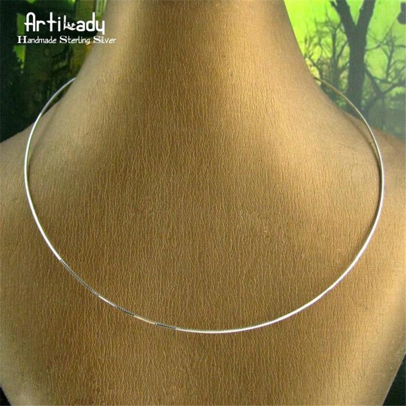 Artilady prata cor gargantilha colar cor prata colar torques minimalista jóias presente para mulher