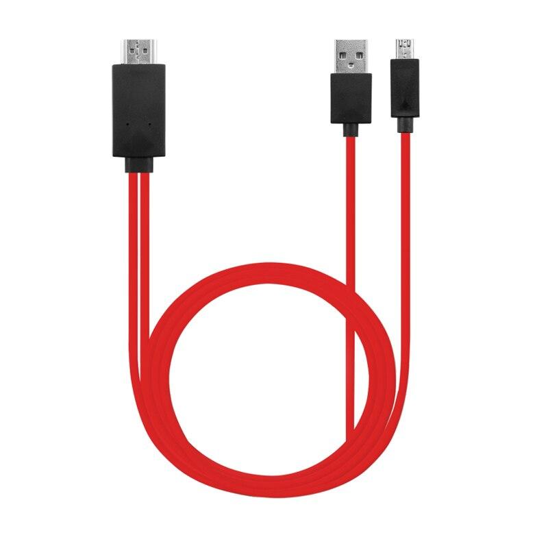Adaptador de cable HDMI para Android, convertidor de micro usb a HDMI HDTV, cable AV para teléfono móvil BR01 para Samsung Galaxy MHL S 3 4 5 Note 2 3 4