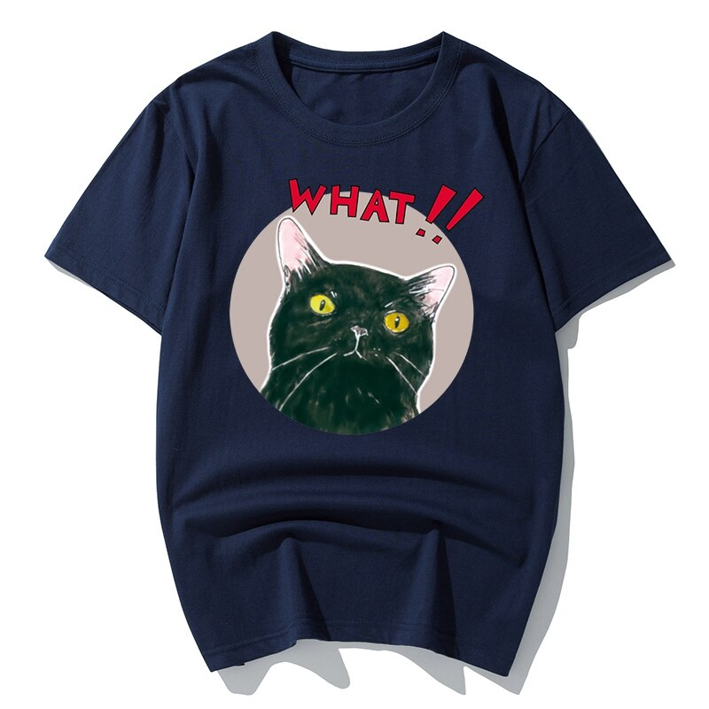Divertida caricatura de gato para hombre, camisetas de manga corta de gran tamaño con animales interesantes, camisetas grandes de verano de talla grande, camisetas grandes 6XL 7XL 8XL, tops rojos 54