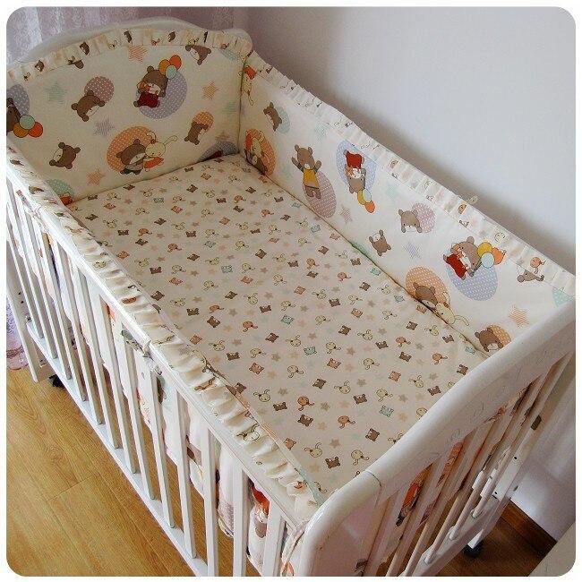 تعزيز! 6 قطعة مجموعات الفراش الطفل ، 100% ٪ القطن الرضع/الطفل المفارش للأطفال حديثي الولادة سرير مجموعات (الوفير ورقة غطاء وسادة)