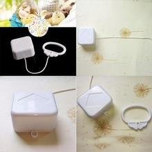 1Pc Rattles & Mobiles Pull String Cord Music Box White Baby Bed Bell Kids Toy Random Songs Baby