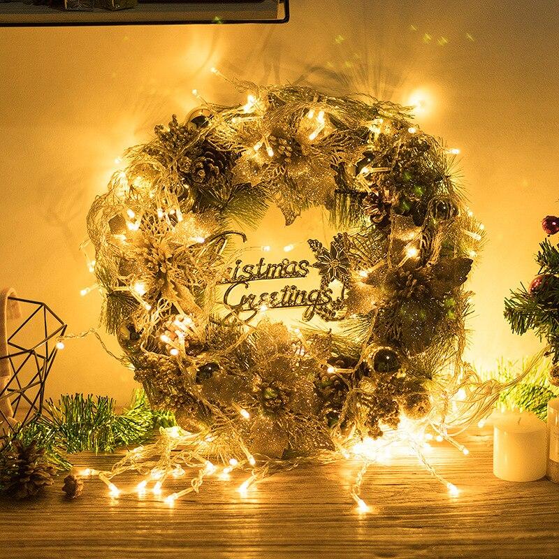 Adornos de campana y corona para árbol de Navidad, adornos colgantes para decoración de Navidad DIY, artículos para decoración de ventanas y casa