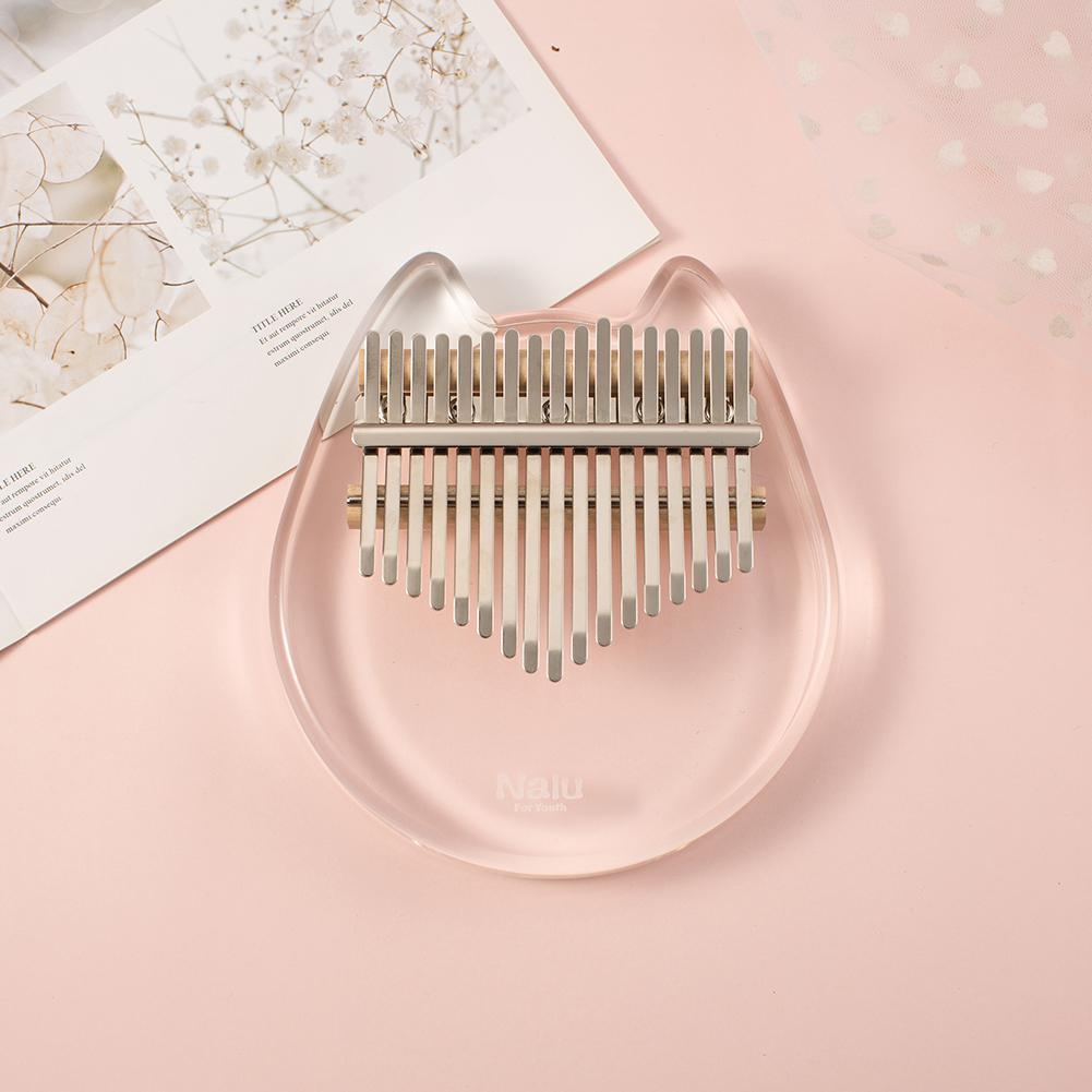 nalu-17-key-kalimba-crystal-cat-shape-acrylic-thumb-piano-mbira-calimba-transparent-keyboard-musical-instrument-mbira-likembe