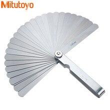 Calibrador de calibre Mitutoyo, 100mm, 150mm, relleno de huecos métrico de acero inoxidable, medidor de espesor de 0,03 a 1,00mm, herramienta de medición