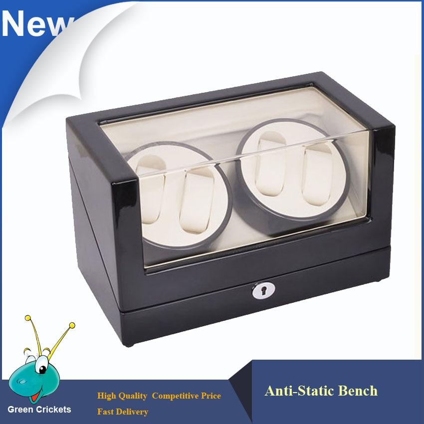 Bobina para reloj de lujo de madera con superficie de alto brillo, Motor supersilencioso de 5 modos, bobinadora de reloj