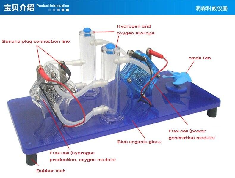 مظاهرة خلية وقود الهيدروجين, معدات تجربة فيزياء العلوم تطبيق الطاقة الجديدة