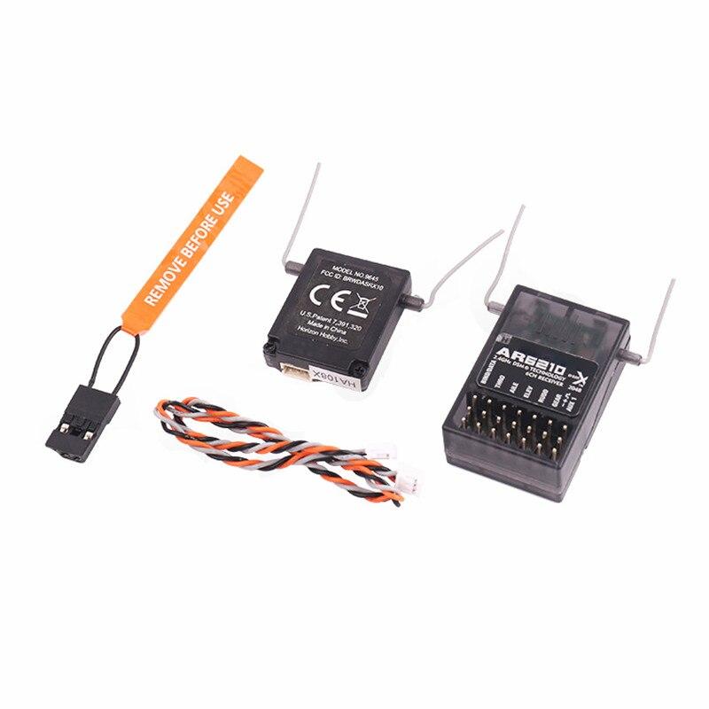 Rango completo 6 CH AR6210 para receptor RX con soporte satelital para DSM2 para transmisor SPEKTRUM DX6i DX7 DX8 DX9 Radio