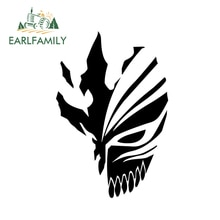 Earlfamily 18 Cm X 12 Cm Bleach Ichigo Hollow Masker Anime Decal Auto Sticker Voor Raam Bumper Motorfiets Decoratie Zwart /Zilver