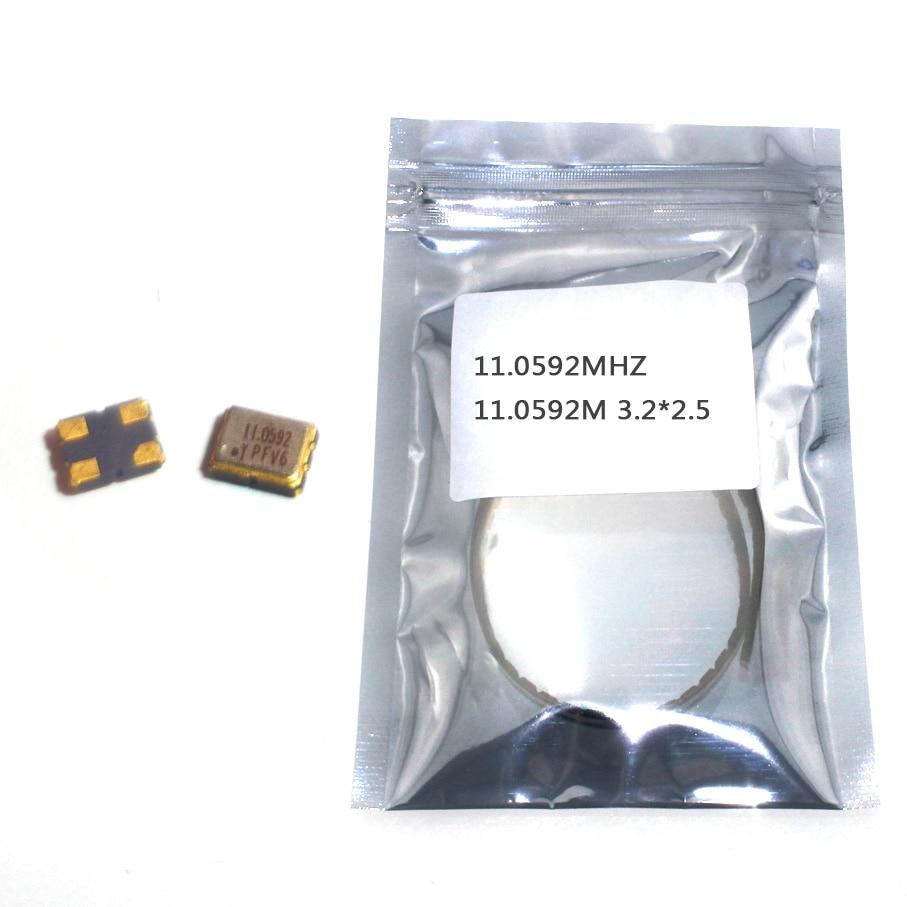 10 шт. SMD 3225 активный кварцевый генератор OSC 11 0592 MHZ M 3 2*2 5 V 25PPM|crystal oscillator|active crystal