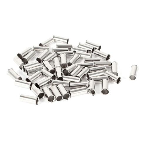 100 piezas 22AWG Bootlace cooper Ferrules kit set cable cobre engarce conector aislado cable Pin Terminal EN0506