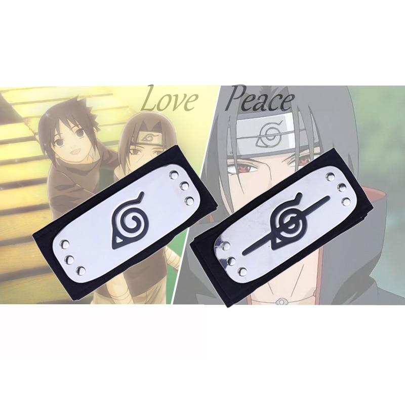 headband cosplay Costumes Accessories toys Props Itachi akatsuki Anime headband Kakashi Peace Love