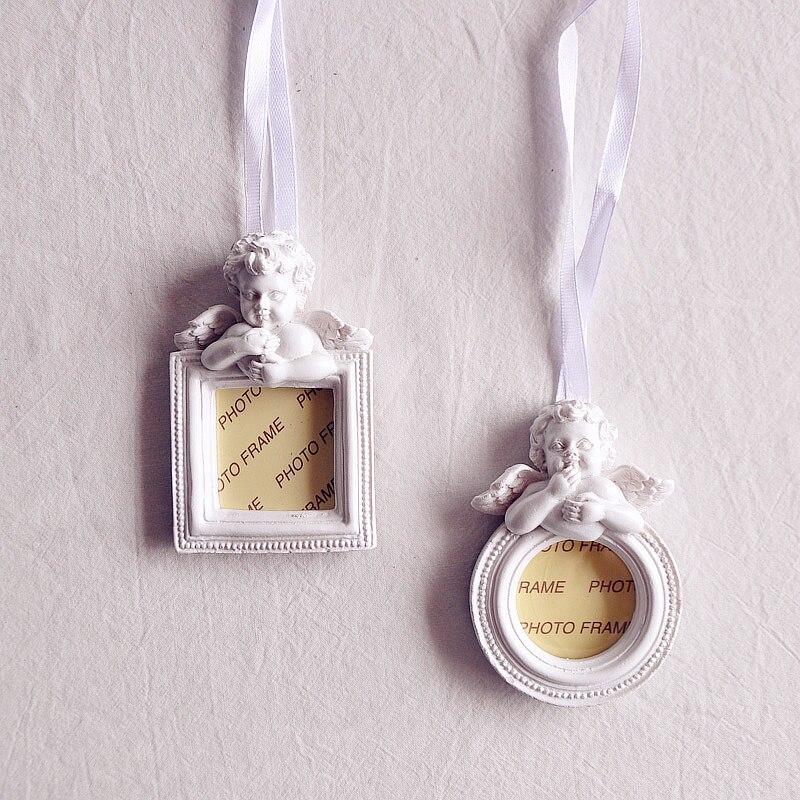 Colgante de marco de foto Vintage Ángel Cupido amor decoración puede poner 1 pulgada foto regalos