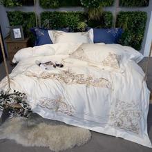 2018 Luxury 600TC Egypt Cotton Classic Villa Bedding Set Embroidery Duvet Cover Set bed Sheet Pillowcases Queen King Size 4pcs