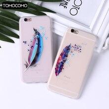 Ailes de rêve carillons éoliens plume Coque en silicone souple pour iphone 6 6plus téléphone Coque de couverture colorée pour iphone 11 8 8Plus X XS Max