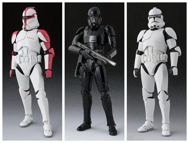 15 см, Звездные войны, SHF, клон, Trooper PHASE II/PHASE I, Captain Death Troope, ПВХ, экшн-фигурка, Коллекционная модель игрушки, кукла