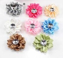 Têtes de fleurs polyester 12 pièces 40mm   rosette nœud, couvre-chef fait main, bricolage-nœud et matériaux de couture, B0908, vente