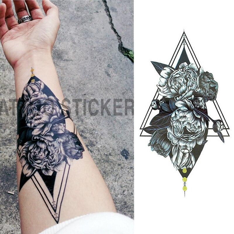 1 unids/set pequeño brazo de flores completo tatuaje temporal a prueba de agua pegatinas Fox Owl para mujeres arte corporal para hombres