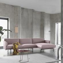 Nordic simple light luxury minimalist post-modern leather sofa living room full set sofa top layer cowhide modern minimalist