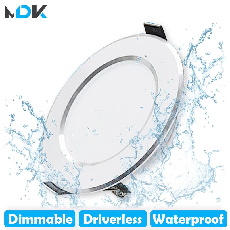 LED Downlight regulable 5W 7W 9W 12W 15W caliente impermeable blanco frío...