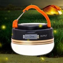 Mini Camping Portable lumières 10 W LED Camping lanterne étanche tentes lampe extérieure randonnée nuit lampe suspendue USB Rechargeable